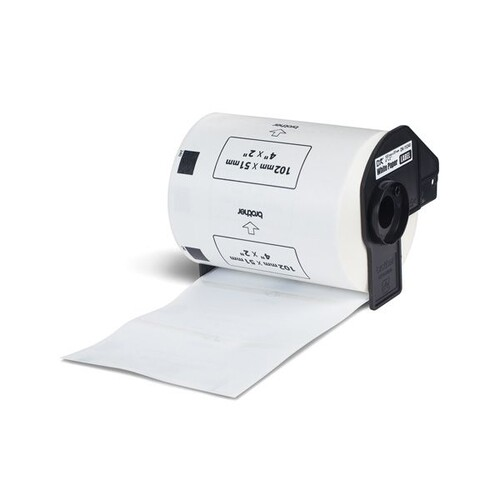 Einzeletikettenrollen Versand-Etiketten 102x51mm Thermopapier Brother DK-11240 (PACK=600 STÜCK) Produktbild Additional View 1 L