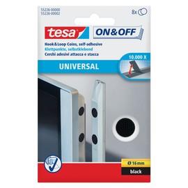 Klettpunkte Velcro ø 16mm schwarz zum aufkleben Tesa 55226-00000-02 (PACK=8 SETS) Produktbild