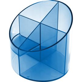 Multiköcher Economy Transparent Durchmesser 110mm/H 110mm blau transluzent Kunststoff Helit H6390230 Produktbild