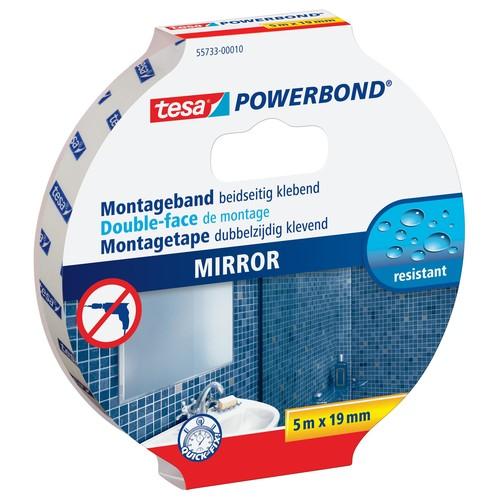 Powerbond SPIEGEL 19mmx5m farblos beidseitig klebend Tesa 55733-00010-04 (RLL=5 METER) Produktbild Front View L