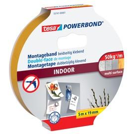 Powerbond INDOOR 19mm x 5m farblos beidseitig klebend Tesa 55741-00001-03 (RLL=5 METER) Produktbild