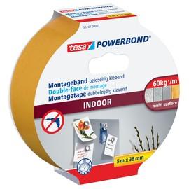 Powerbond INDOOR 38mm x 5m farblos beidseitig klebend Tesa 55742-00001-03 (RLL=5 METER) Produktbild