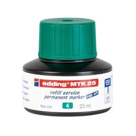 Permanentmarker-Nachfülltusche MTK25 25ml grün Edding 4-MTK25004 (ST=25 MILLILITER) Produktbild