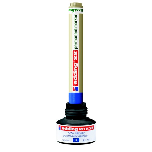 Permanentmarker-Nachfülltusche MTK25 25ml rot Edding 4-MTK25002 (ST=25 MILLILITER) Produktbild Additional View 4 L
