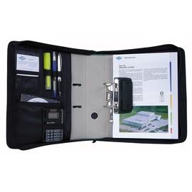 Ordner Tasche A4 mit zwei Tragegriffe 75mm schwarz Wedo 58601 Produktbild