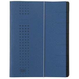 Ordnungsmappe chic mit Gummizug A4 mit 7 Fächern dunkelblau Karton Elba 400002023 Produktbild