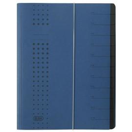 Ordnungsmappe chic mit Gummizug A4 mit 12 Fächern dunkelblau Karton Elba 400001992 Produktbild