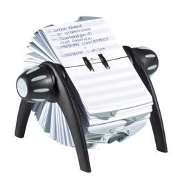 Rolodex Telindex 25-teilig 72x104mm für 500Karten metallic schwarz Durable 2416-01 Produktbild