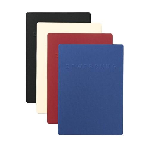 Bewerbungsmappe 3-teilig Square mit 2 Klemmschienen A4 blau Karton Pagna 22022-02 Produktbild Additional View 1 L