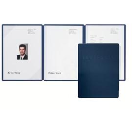 Bewerbungsmappe 3-teilig Square mit 2 Klemmschienen A4 blau Karton Pagna 22022-02 Produktbild