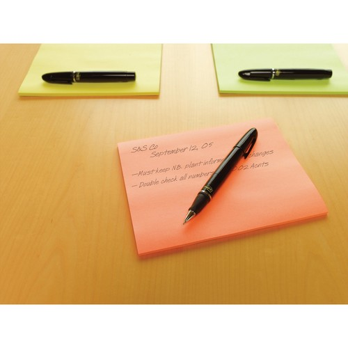 Haftnotizen Post-it Meeting-Notes 200x149mm neonfarben 3M 6845-SSP (PACK=4x 45 BLATT) Produktbild Additional View 1 L