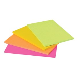 Haftnotizen Post-it Meeting-Notes 200x149mm neonfarben 3M 6845-SSP (PACK=4x 45 BLATT) Produktbild