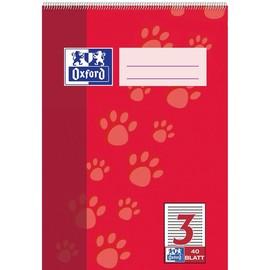 Spiralschulblock Oxford A5 Lineatur 3 40Blatt 90g Optik Paper weiß 100050386 Produktbild