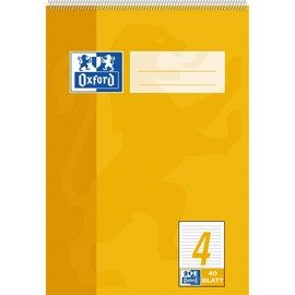 Spiralschulblock Oxford A5 Lineatur 4 liniert 40Blatt 90g Optik Paper weiß 100050387 Produktbild