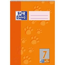 Spiralschulblock Oxford A5 Lineatur 7 kariert 40Blatt 90g Optik Paper weiß 100050389 Produktbild