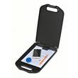 Klemmbrett mit Aufbewahrungsfach A4 Füllhöhe 23mm schwarz Kunststoff Wedo 576001 Produktbild Additional View 1 S
