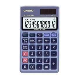 Taschenrechner 12-stelliges LCD-Display 8x70x118,5mm Solar-/Batteriebetrieb Casio SL-320 TER + Produktbild
