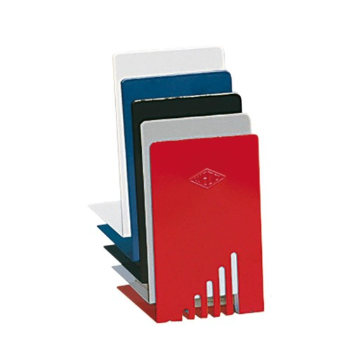 Buchstütze 140x85x140mm weiß Metall Wedo 1021000 (PACK=2 STÜCK) Produktbild Additional View 2 L