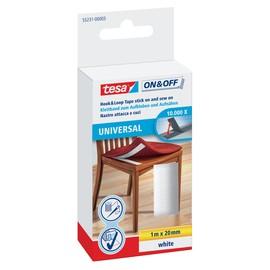 Klettband Velcro 2cm x 1m weiß zum aufkleben / aufnähen Tesa 55231-00003-01 Produktbild