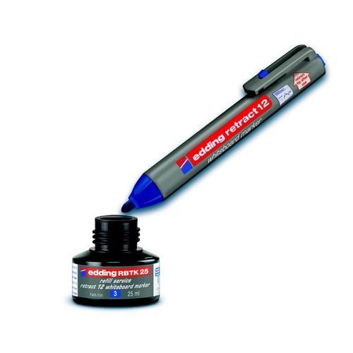 Whiteboardmarker retract 12 1,5-3mm Rundspitze grün trocken abwischbar Edding 4-12004 Produktbild Additional View 2 L