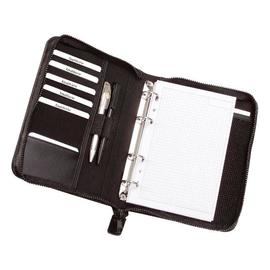 Ringbuchmappe mit Reißverschluß LUINO A5 schwarz Lederimitat Alassio 30006 Produktbild