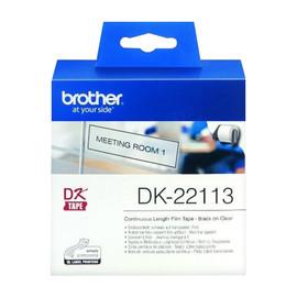 Endlosetikettenrollen 62mmx15,24m farblos Film Brother DK-22113 (PACK=15,24 METER) Produktbild