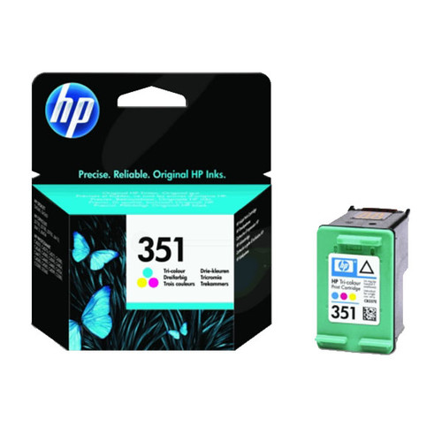Tintenpatrone 351 für HP DeskJet D4260/D4360 3,5ml farbig HP CB337EE Produktbild Front View L
