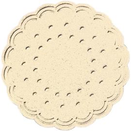 Tassendeckchen Premium ø 7,5cm champagner Tissue Duni 106384 (PACK=25 STÜCK) Produktbild