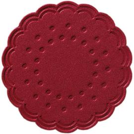 Tassendeckchen Premium ø 7,5cm  bordeaux Tissue Duni 351843 (PACK=25 STÜCK) Produktbild