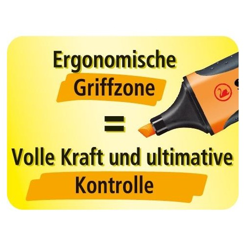 Textmarker Executive 73 2-5mm Keilspitze orange Stabilo 73/54 Produktbild Side View L