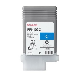Tintenpatrone PFI-102C für Canon IPF500/600 130ml cyan Canon 0896b001 Produktbild