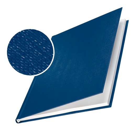 Bindemappen Hard Cover A4 für 71-105Blatt blau Leinenstruktur Leitz 7392-00-35 (PACK=10 STÜCK) Produktbild Front View L