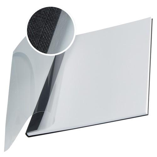 Bindemappen Soft Cover A4 für 36-70Blatt schwarz/transparent Leinenstruktur Leitz 7399-00-95 (PACK=10 STÜCK) Produktbild Front View L