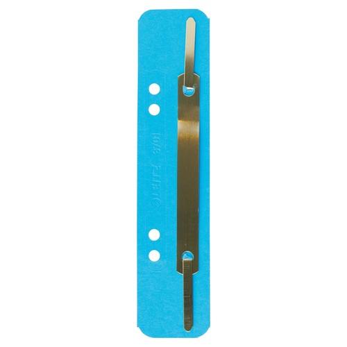 Einhänge-Heftstreifen kurz mit Metall-Deckschiene 35x158mm blau Karton Leitz 3701-00-35 (PACK=25 STÜCK) Produktbild Front View L