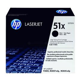 Toner 51X für LaserJet M3027/M3035/P3003 13000Seiten schwarz HP Q7551X Produktbild