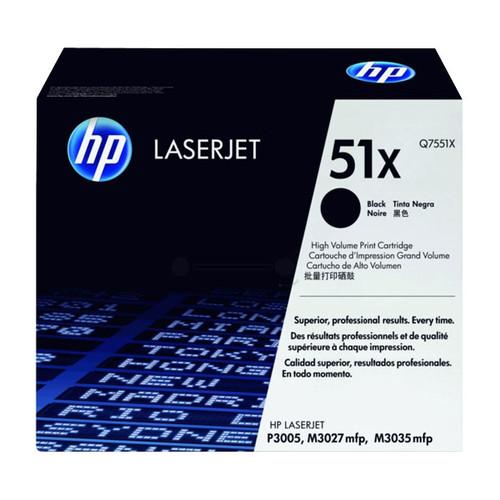 Toner 51X für LaserJet M3027/M3035/P3003 13000Seiten schwarz HP Q7551X Produktbild Front View L