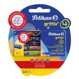 Tintenpatrone für Griffix Schulfüller P1RB mit Motiv Tiere königsblau löschbar Pelikan 960559 (PACK = 2x5 STÜCK) Produktbild