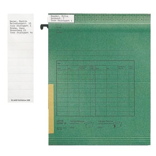 Blanko-Schildchen für Vollsichtreiter 50x15mm weiß Leitz 2465-00-01 (BTL=100 STÜCK) Produktbild Front View L