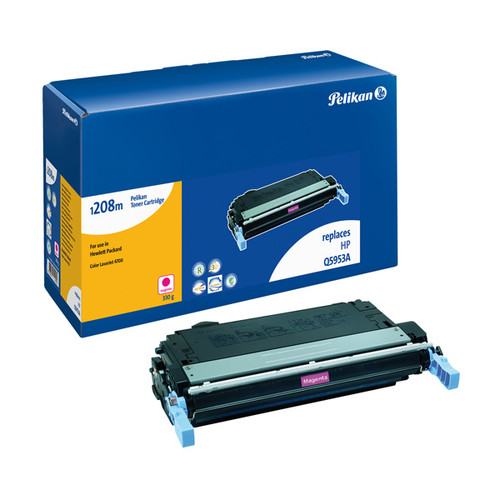 Toner Gr. 1208 (Q5953A) für Color LaserJet 4700 10000Seiten magenta Pelikan 629135 Produktbild Front View L