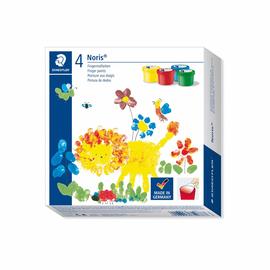 Fingermalfarben Noris Club Mali 4x100ml farbig sortiert schnelltrocknend auswaschbar Staedtler 8814D (PACK=4 STÜCK) Produktbild