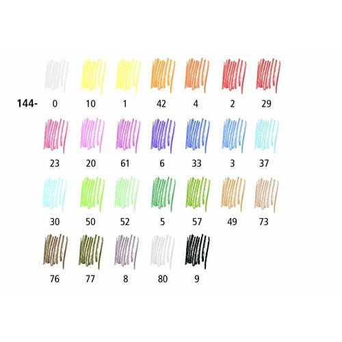 Farbstifte Noris Club 144 sechskant Kartonetui sortiert Staedtler 144NC24 (ETUI=24 STÜCK) Produktbild Additional View 3 L