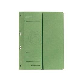 Ösenhefter 1/2 Vorderdeckel kaufmännische Heftung 238x305mm grün Karton Herlitz 10837318 Produktbild
