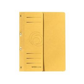 Ösenhefter 1/2 Vorderdeckel kaufmännische Heftung 238x305mm gelb Karton Herlitz 10837326 Produktbild