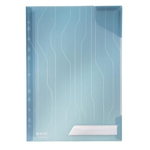 Prospekthüllen Combifile oben offen A4 200µ blau PP genarbt Leitz 4726-00-35 (PACK=5 STÜCK) Produktbild Front View L