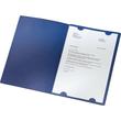 Bewerbungsmappe Exklusiv 3-teilig mit 2 Klemmschienen 222x312mm für 20Blatt dunkelblau Karton Leitz 3974-00-39 Produktbild Additional View 1 S