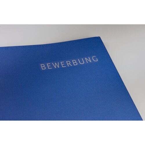 Bewerbungsmappe Exklusiv 3-teilig mit 2 Klemmschienen 222x312mm für 20Blatt dunkelblau Karton Leitz 3974-00-39 Produktbild Additional View 3 L