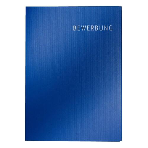 Bewerbungsmappe Exklusiv 3-teilig mit 2 Klemmschienen 222x312mm für 20Blatt dunkelblau Karton Leitz 3974-00-39 Produktbild