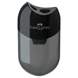 Doppelspitzer mit Behälter oval flach schwarz Faber Castell 183500 Produktbild