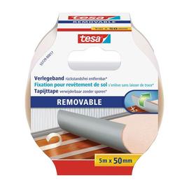 Verlegeband 50mm x 5m beidseitig klebend rückstandsfrei entfernbar Tesa 55729-00017-11 (RLL=5 METER) Produktbild