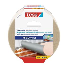 Verlegeband 50mm x 25m beidseitig klebend rückstandsfrei entfernbar Tesa- 55735-00014-11 (RLL=25 METER) Produktbild